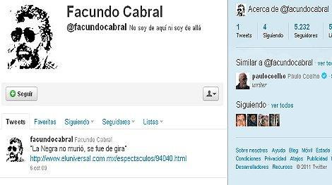 Post de Facundo Cabral lamentaba fallecimiento de su amiga Mercedes Sosa.
