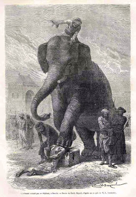 Aplastamiento por elefante