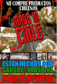 boicot internacional : no compre productos chilenos