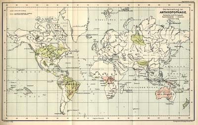 mapa mundial del canibalismo