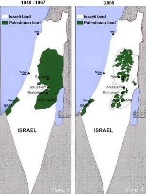 territorios palestinos que han pasado a manos del Estado de Israel