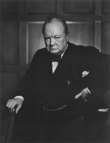 Yousuf Karsh - Churchill por Père Ubu.