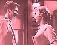 Anthony Perkins y Vera Miles en Psicosis