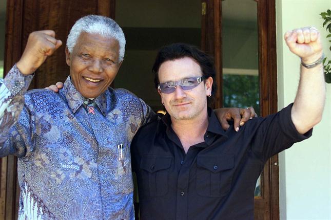 Junto a Bono 25 de Mayo de 2002. Foto: Archivo