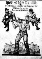 Propaganda nazi sobre la carga que suponen los seres 'inferiores'